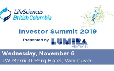 Vesalius is selected to pitch at the 2019 Life Sciences British Columbia (LSBC) Investors Summit